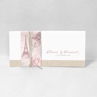 Faire-part romantique Paris FM51-VIN-18