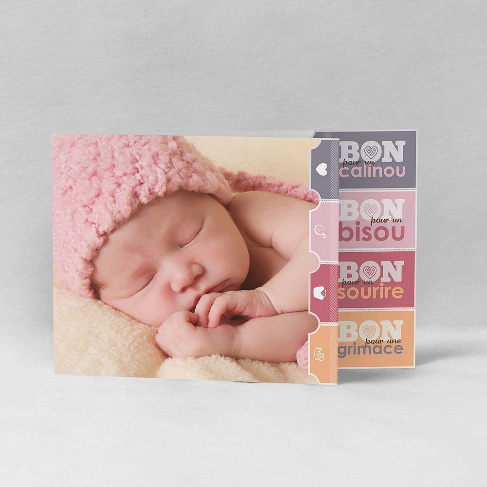 Faire-part de naissance Le bon cadeau fille FN05-LUD-3A