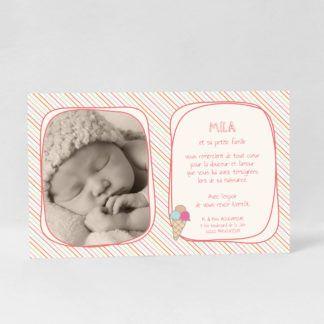 Carte de remerciement photo Petite douceur fille RN10-GOU-6A