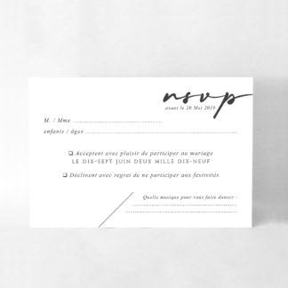 Carton réponse chic Alix CM30-TRA-110