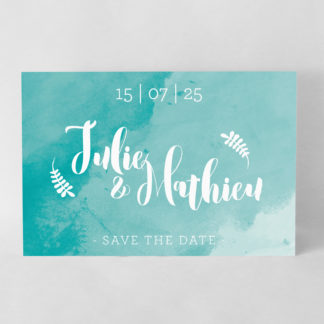 Save the date graphique Turquoise DM30-ART-3T