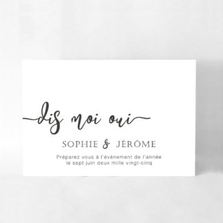 Save the date chic Blanche DM30-TRA-111