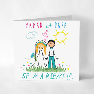 Faire-part original Papa maman se marient FM01-ENF-2A