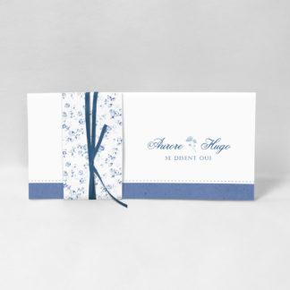 Faire-part chic Fleur bleue FM51-FLO-18