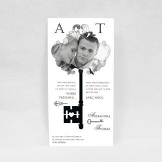 Carte de remerciement chic Alexandre RM12-VIN-7