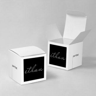 Boîte à dragées Noir et blanc - BN75-GRA-100-1