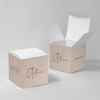 Boîte à dragées Les petits petons - BN75-VIN-100-1