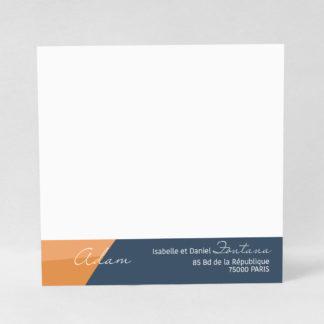 Carte à écrire Tendre design - CMN53-GRA-105