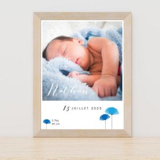 Affiche Coquelicots garçon - PN3040-GRA-101A