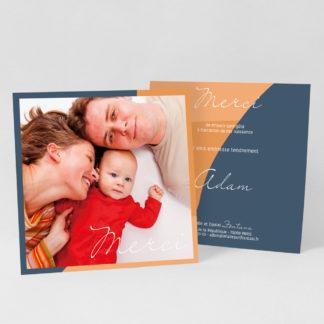 Carte de remerciement Tendre design - RN39-GRA-105-RECTO