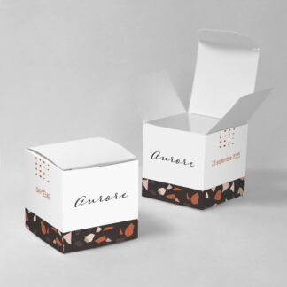 Boîte à dragées Minimal Terrazzo - BN75-MIN-107-1