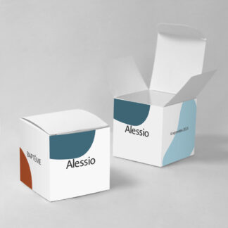 Boîte à dragées Design minimal garçon - BN75-MIN-108A-1
