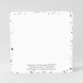 Carte à écrire Terrazzo garçon - CMN53-MIN-105A