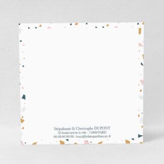 Carte à écrire Terrazzo fille - CMN53-MIN-105B