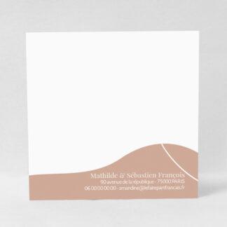 Carte à écrire Design minimal fille - CMN53-MIN-108B
