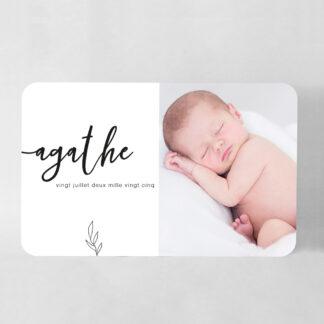 Faire-part naissance carte Elegancia grand format - FN78-MIN-102-1-R