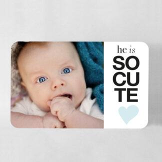 Faire-part naissance carte So cute grand format garçon - FN78-MIN-104A-1-R