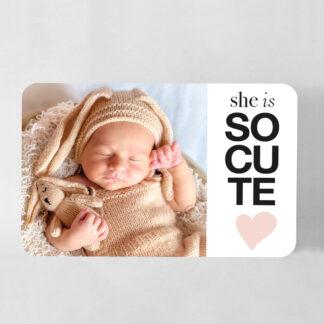 Faire-part naissance carte So cute grand format fille - FN78-MIN-104B-1-R