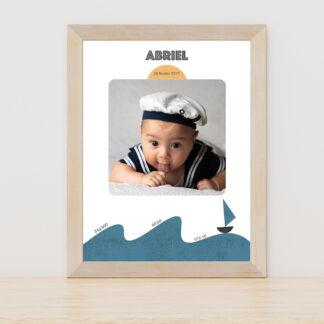 Affiche naissance Petit bateau - PN3040-MIN-101