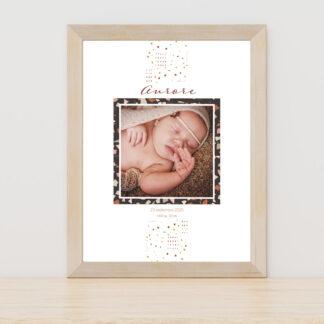 Affiche naissance Minimal Terrazzo - PN3040-MIN-107