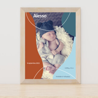 Affiche naissance Design minimal garçon - PN3040-MIN-108A