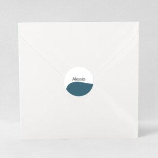 Macaron adhésif Design minimal garçon - ZN76-MIN-108A-1