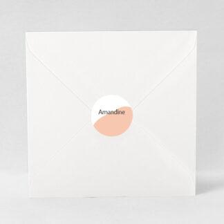 Macaron adhésif Design minimal fille - ZN76-MIN-108B-1
