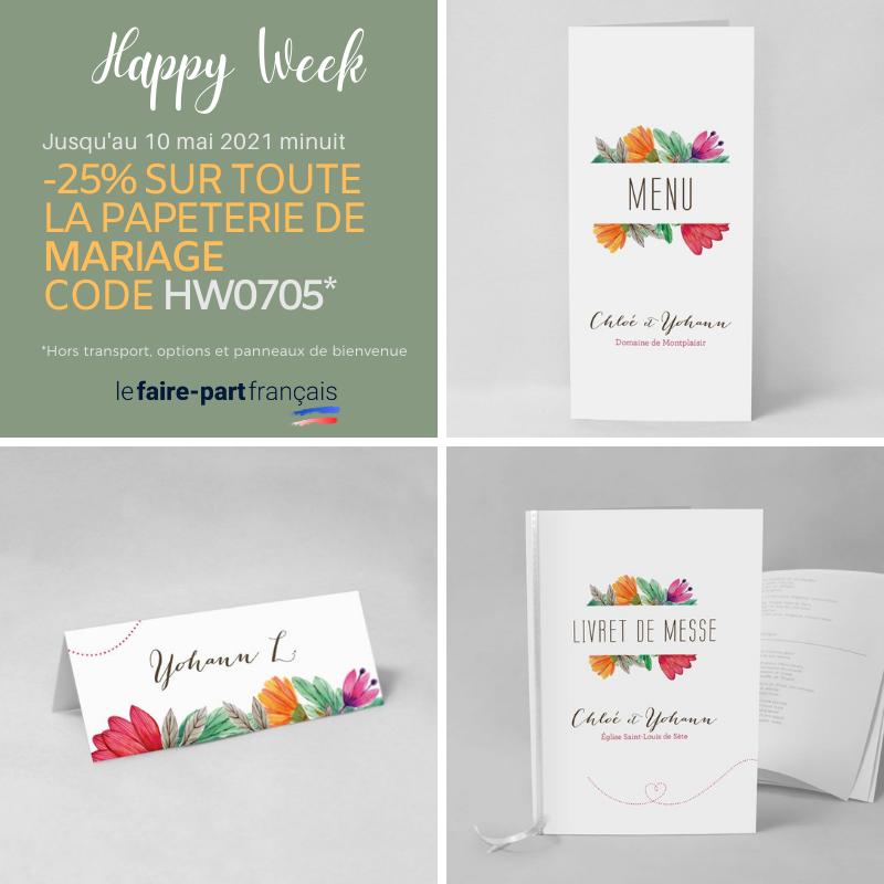 Code promo mariage - Réservez votre papeterie ce week-end et donnez votre texte ou photos plus tard