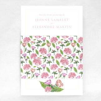 Faire-part champêtre Floralies